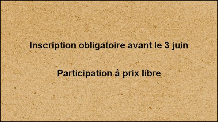 Inscription avant le 3 juin